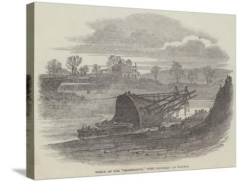 Wreck of the Glenbervie, West Indiaman at Bristol--Stretched Canvas Print