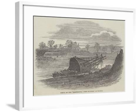 Wreck of the Glenbervie, West Indiaman at Bristol--Framed Art Print