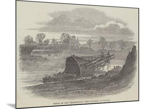Wreck of the Glenbervie, West Indiaman at Bristol--Mounted Giclee Print