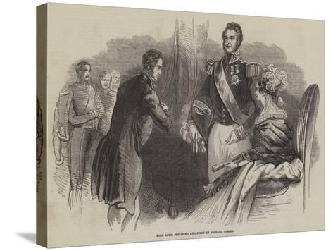 King Louis Philippe's Reception of Richard Cobden--Stretched Canvas Print