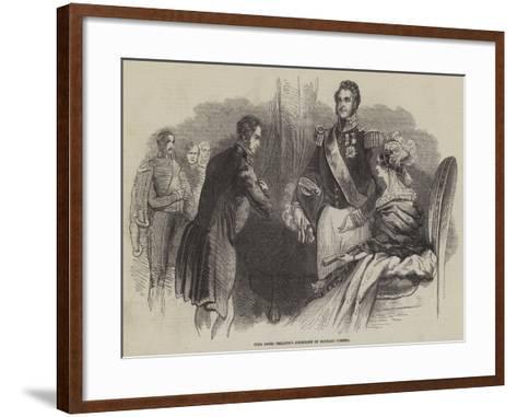 King Louis Philippe's Reception of Richard Cobden--Framed Art Print