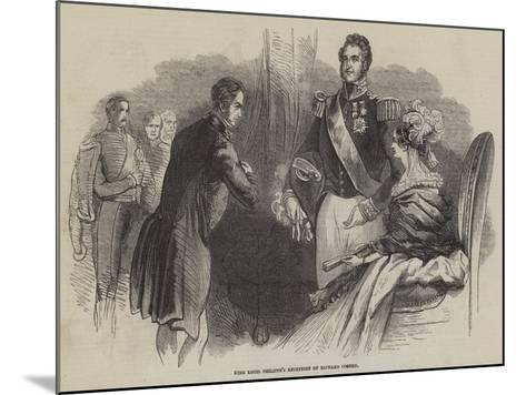 King Louis Philippe's Reception of Richard Cobden--Mounted Giclee Print
