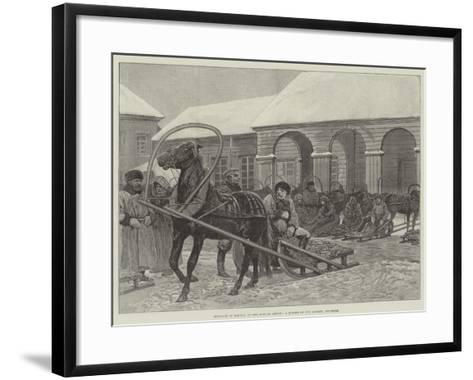 Sketches in Siberia, a Corner of the Market, Yeniseisk--Framed Art Print