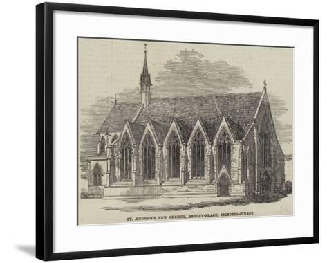 St Andrew's New Church, Ashley-Place, Victoria-Street--Framed Art Print