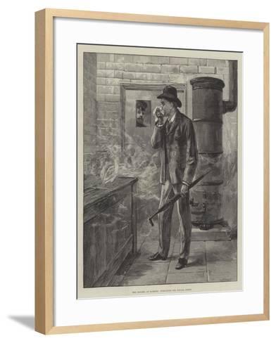 The Cholera at Hamburg, Fumigating Our Special Artist--Framed Art Print