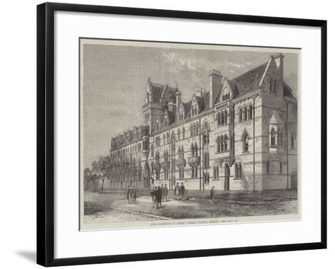 New Buildings of Christ Church College, Oxford--Framed Art Print