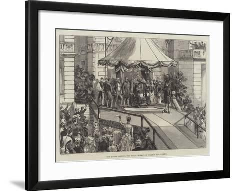 The Queen Opening the Royal Holloway College for Women--Framed Art Print