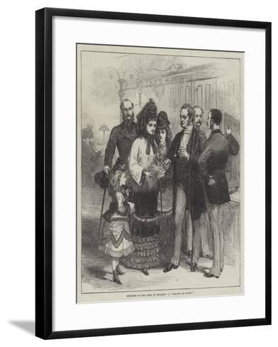 Sketches in the Bank of England, a Million of Money!--Framed Art Print