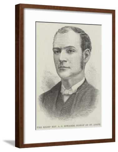 The Right Reverend a G Edwards, Bishop of St Asaph--Framed Art Print