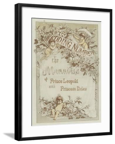 The Marriage of Prince Leopold and Princess Helen--Framed Art Print