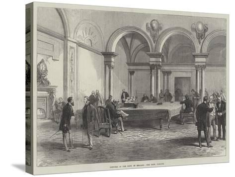 Sketches in the Bank of England, the Bank Parlour--Stretched Canvas Print