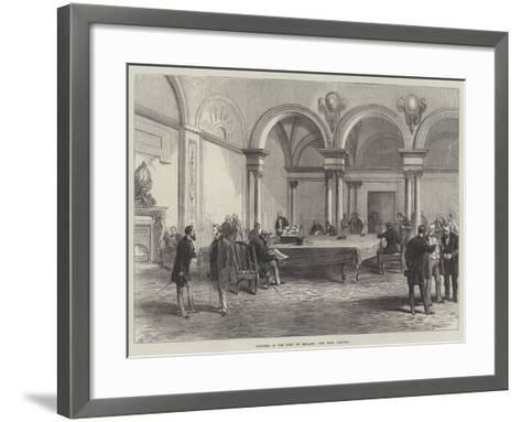 Sketches in the Bank of England, the Bank Parlour--Framed Art Print