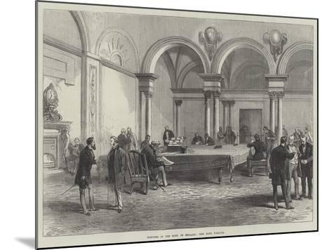Sketches in the Bank of England, the Bank Parlour--Mounted Giclee Print