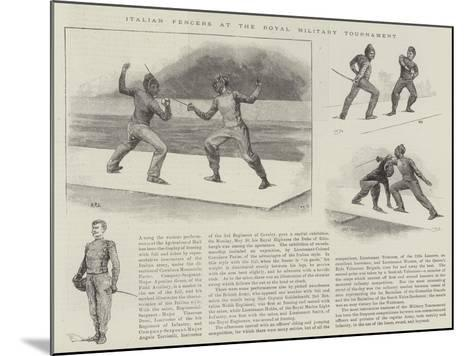 Italian Fencers at the Royal Military Tournament--Mounted Giclee Print
