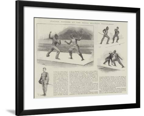 Italian Fencers at the Royal Military Tournament--Framed Art Print