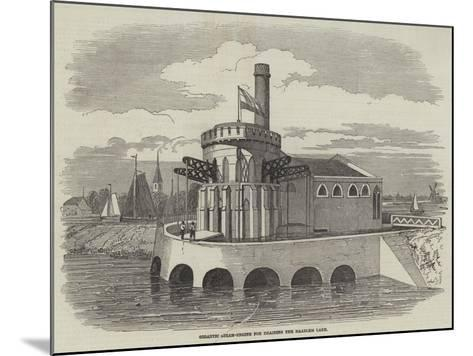 Gigantic Steam-Engine for Draining the Haarlem Lake--Mounted Giclee Print