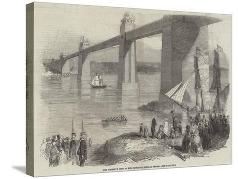 Her Majesty's Visit to the Britannia Tubular Bridge--Stretched Canvas Print