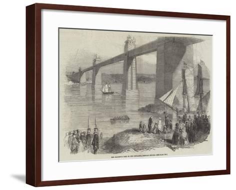 Her Majesty's Visit to the Britannia Tubular Bridge--Framed Art Print