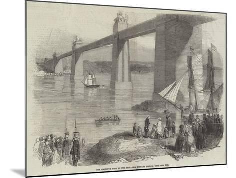 Her Majesty's Visit to the Britannia Tubular Bridge--Mounted Giclee Print