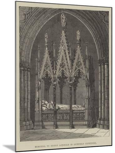 Memorial to Bishop Lonsdale in Lichfield Cathedral--Mounted Giclee Print