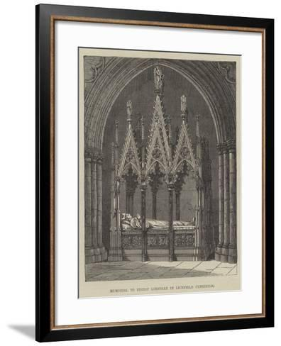 Memorial to Bishop Lonsdale in Lichfield Cathedral--Framed Art Print