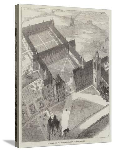 St Mary and St Nicholas College, Lancing, Sussex--Stretched Canvas Print