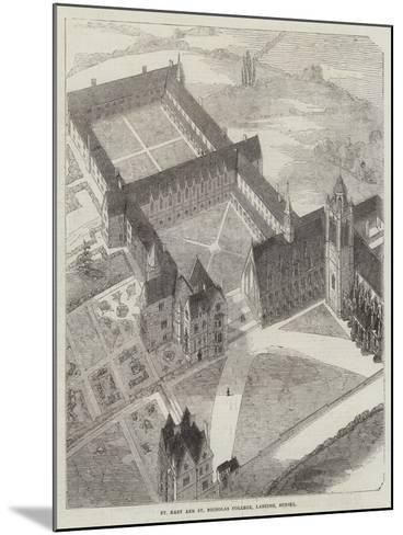 St Mary and St Nicholas College, Lancing, Sussex--Mounted Giclee Print