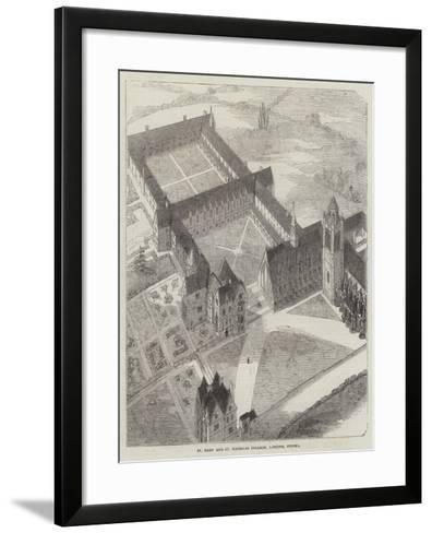 St Mary and St Nicholas College, Lancing, Sussex--Framed Art Print