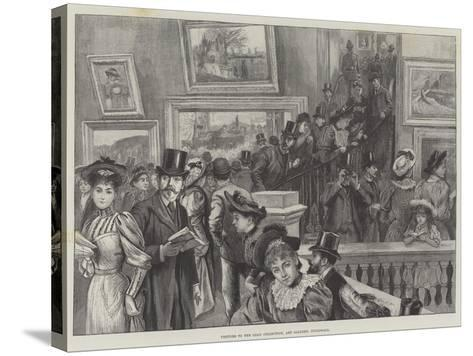 Visitors to the Loan Collection, Art Gallery, Guildhall--Stretched Canvas Print