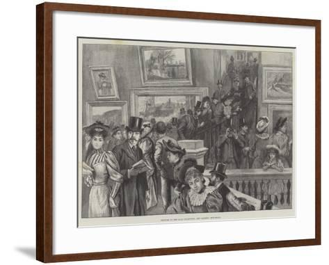Visitors to the Loan Collection, Art Gallery, Guildhall--Framed Art Print