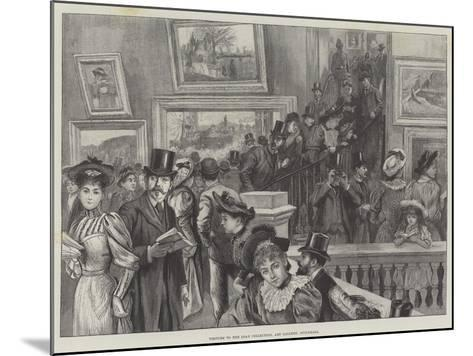 Visitors to the Loan Collection, Art Gallery, Guildhall--Mounted Giclee Print