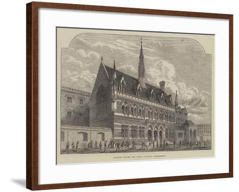 Merchant Taylors' New School Buildings, Charterhouse--Framed Art Print