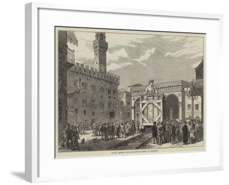Moving Michael Angelo's Statue of David at Florence--Framed Art Print