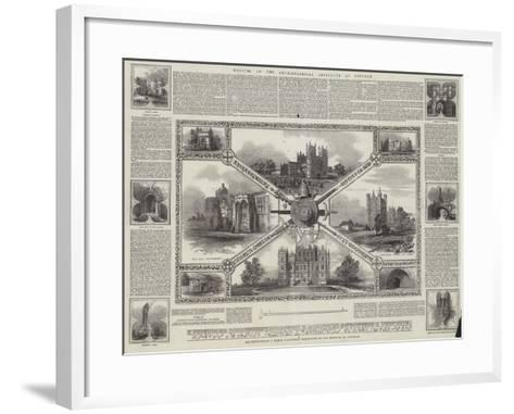 Meeting of the Archaeological Institute at Lincoln--Framed Art Print