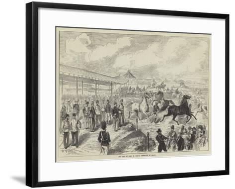 The King of Italy in Vienna, Exhibition of Horses--Framed Art Print