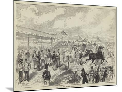 The King of Italy in Vienna, Exhibition of Horses--Mounted Giclee Print