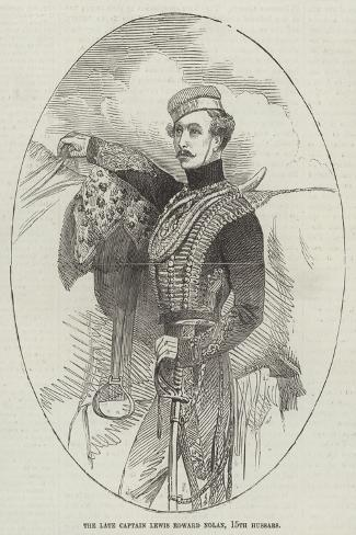 The Late Captain Lewis Edward Nolan, 15th Hussars--Stretched Canvas Print