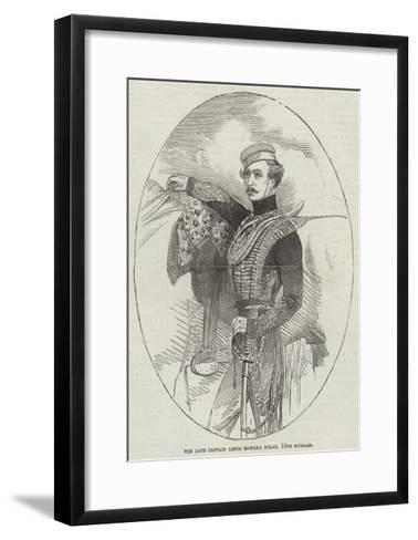 The Late Captain Lewis Edward Nolan, 15th Hussars--Framed Art Print