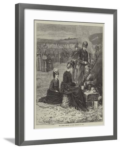 The Autumn Campaign, an Early Breakfast in Camp--Framed Art Print