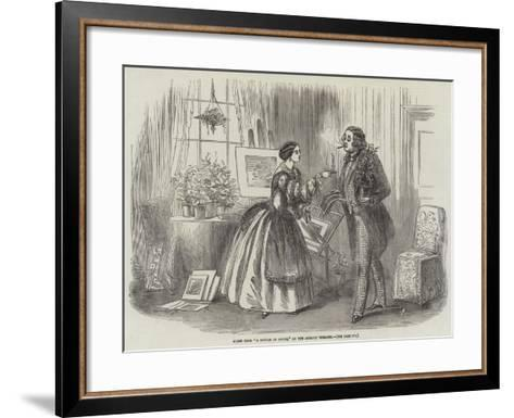 Scene from A Bottle of Smoke, at the Adelphi Theatre--Framed Art Print