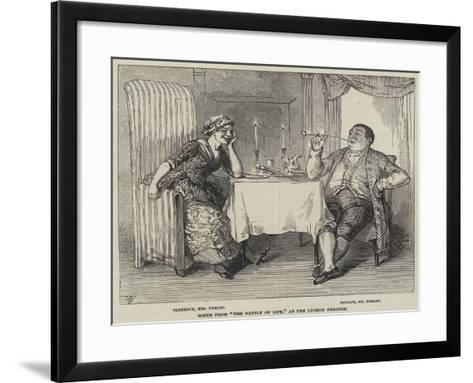 Scene from The Battle of Life, at the Lyceum Theatre--Framed Art Print