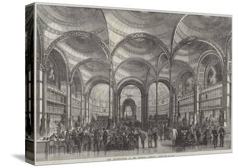 New Reading-Room at the Imperial Library, Paris--Stretched Canvas Print