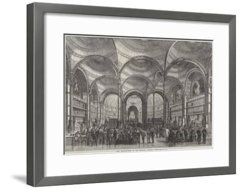 New Reading-Room at the Imperial Library, Paris--Framed Art Print