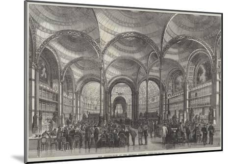 New Reading-Room at the Imperial Library, Paris--Mounted Giclee Print