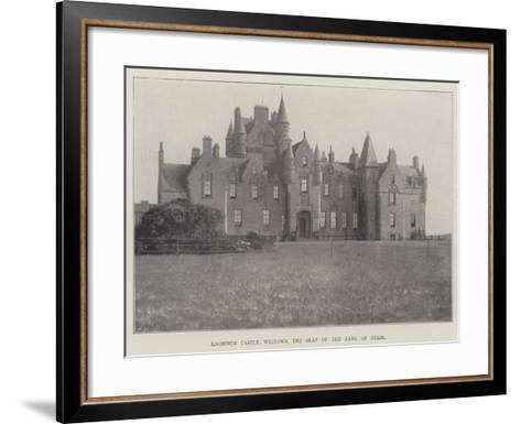 Lochinch Castle, Wigtown, the Seat of the Earl of Stair--Framed Art Print