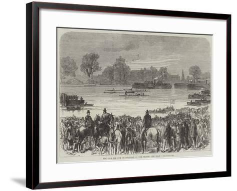 The Race for the Championship of the Thames, the Start--Framed Art Print