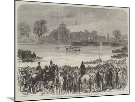 The Race for the Championship of the Thames, the Start--Mounted Giclee Print