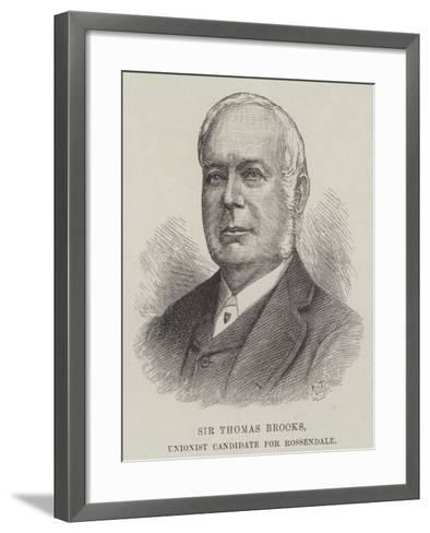Sir Thomas Brooks, Unionist Candidate for Rossendale--Framed Art Print