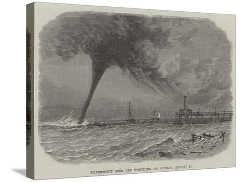 Waterspout Seen Off Worthing on Sunday, 21 August--Stretched Canvas Print