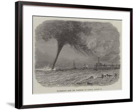 Waterspout Seen Off Worthing on Sunday, 21 August--Framed Art Print